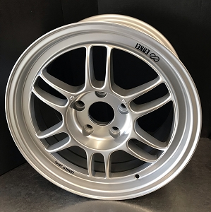 ENKEI RPF1 16x8 +38 4x100 ** 73mm Bore Silver ** Wheels
