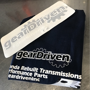 Gear Driven (BLUE) Support Shirt and Decal Package