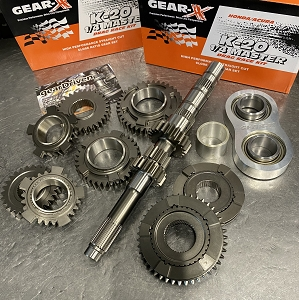 Gear-X Honda K-Series 1st - 4th Straight Cut QUARTER MASTER DOG Gear Set RSX K20A2 Civic SI K20Z3