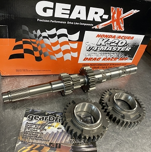 Gear-X Honda K-Series 1st - 2nd Straight Cut QUARTER MASTER DOG Gear Set RSX K20A2 Civic SI K20Z3