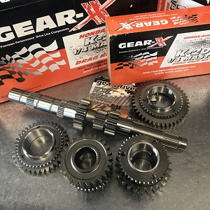 Gear-X Honda K-Series 1st - 4th Straight Cut QUARTER MASTER Gear Set RSX K20A2 Civic SI K20Z3