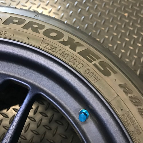 ENKEI RPF1 17x8 +38 5x114.3 ** Dye Cast BLUE ** Toyo R888 235 45 (2 Wheels ONLY)